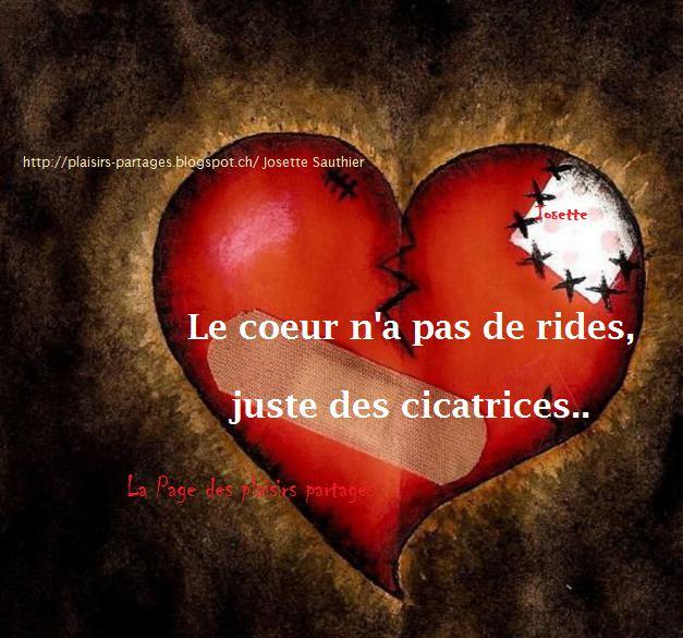 La Page des Plaisirs Partagés: Le coeur n'a pas de rides...
