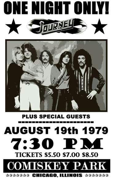 Journey tour promo- Chicago Comiskey Park 1979