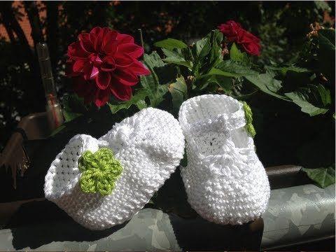 Escarpínes de bebe con correa en crochet - Instrucción zapatitos de BerlinCrochet - Parte1, Suela - YouTube