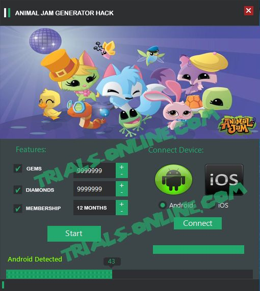 Animal Jam Free Membership Generator for Gems Diamonds