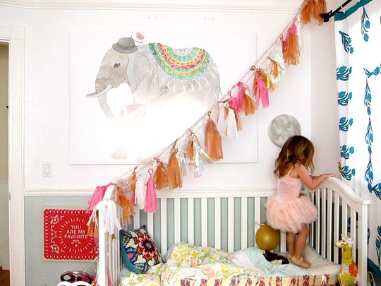bohemian nursery | Marlowe's Bright Bohemian Room Kids Room Tour | Apartment Therapy
