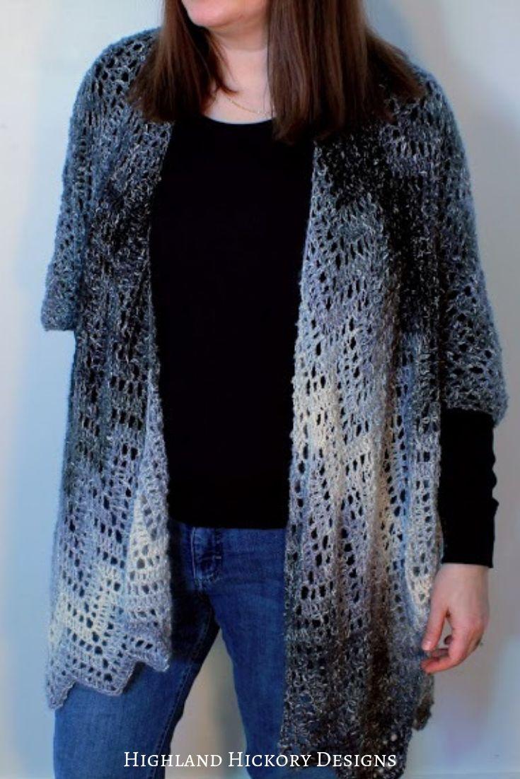 b98fc8fcc8683 Midnight Ruana - Highland Hickory Designs - Free Crochet Pattern ...
