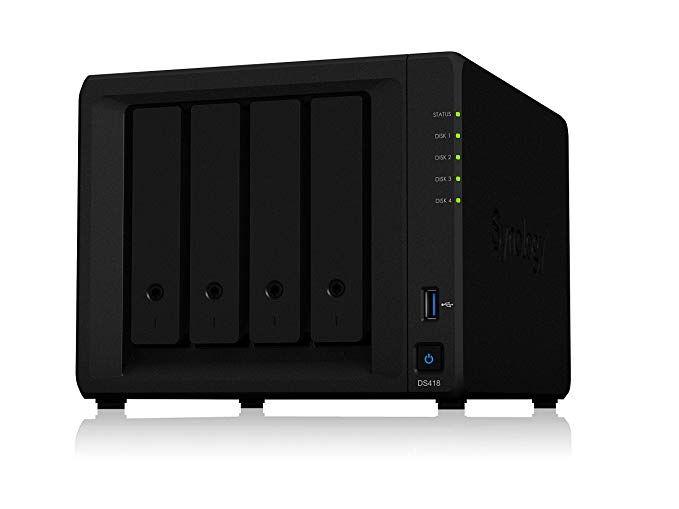 Synology 4 Bay Nas Diskstation Ds418 Diskless Network Attached Storage Best Computer Storage