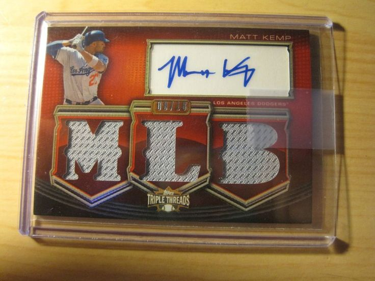 2010 TOPPS TRIPLE THREADS RED 3 G.U RELICS AUTO CARD TTAR-MK MATT KEMP #08/18 #LosAngelesDodgers
