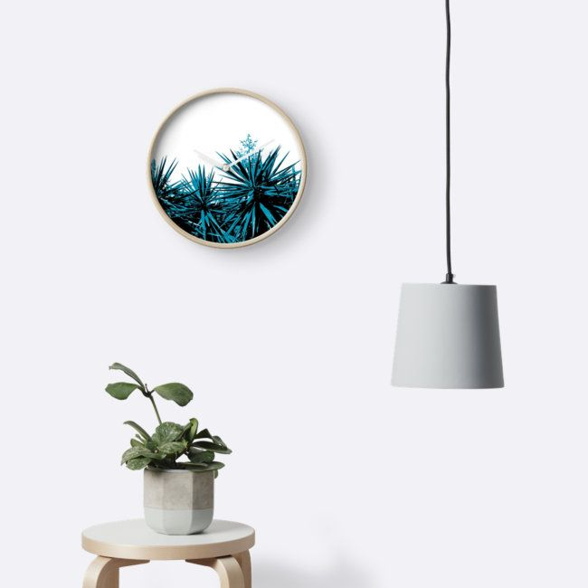 Yucca Trees Wall Clock by ARTbyJWP from Redbubble #wallclock #clocks #walldeco #yuccatrees #homedecor --   Abstract composition of yucca tree tops. • Also buy this artwork on home decor, apparel, stickers, and more.
