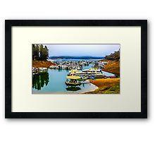 Fog Over Lake Eildon Framed Print