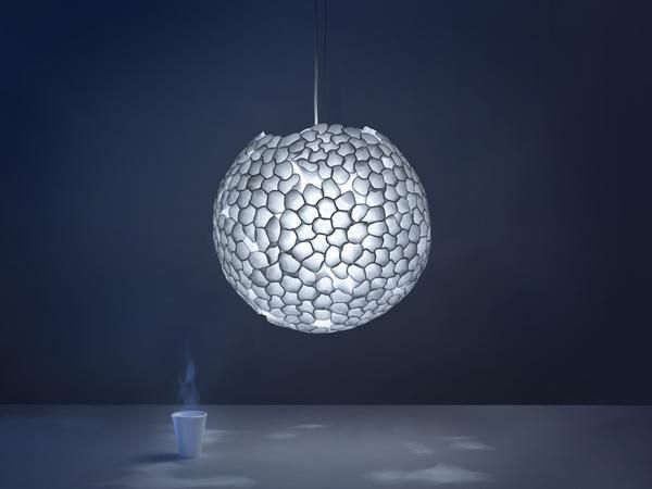 Plastic Recycling Ideas Turn Glasses Into Modern Lighting Fixtures