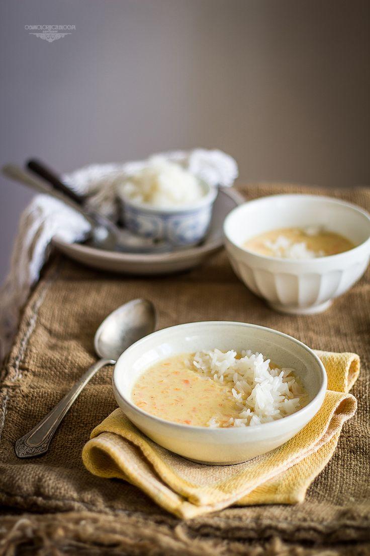 Sweet milk carrot soup