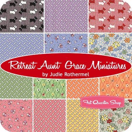 Retreat Aunt Grace Miniatures Fat Quarter Bundle By Judie