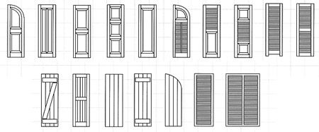 80 best ranch redo 2016 images on pinterest carriage - Different styles of exterior shutters ...
