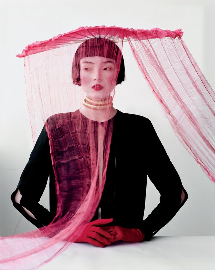 W Magazine March 2012 - Xiao Wen Ju by Tim Walker