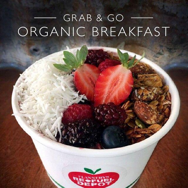 FLANNERYS REFUEL DEPOT – Breakfast on the run this morning at Flannerys Refuel Depot. Grab & Go Acai Bowl - Yum!! LEARN MORE HERE > http://organicshopper.com.au/listing/flannerys-refuel-depot