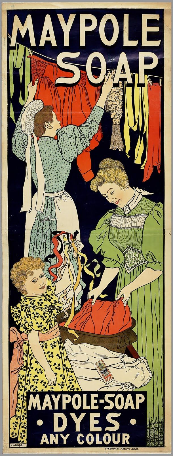 Vintage Ephemera: Maypole Soap advertisement - 1896 cute in the laundry room?