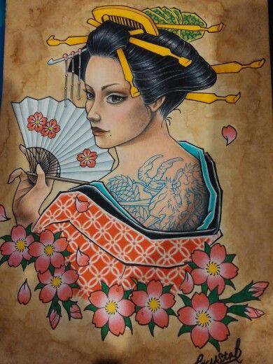 #geisha #geishaart #tattoo #게이샤 #타투디자인 #타투빔 #크리스탈리