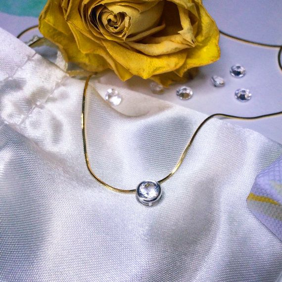 Colgante de diamantes de Herkimer collar colgante de