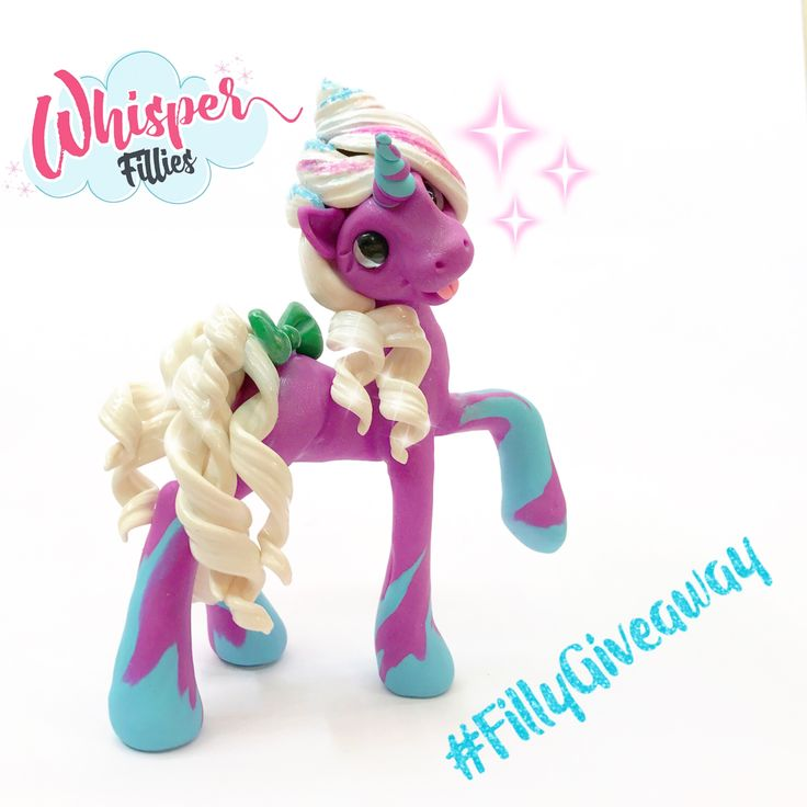 Enter to win this Starbucks Unicorn Frappuccino inspired Filly! Visit my Instagram or Facebook for details!  Whisper Fillies handmade polymer clay fantasy animals