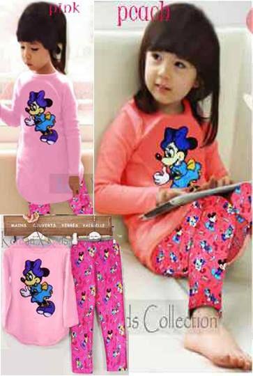 Mickey Set Bahan Spandex ( Atasan + Legging Print)     Untuk anak 5-8 tahun     Harga : Rp. 84.000,-/stel     Kode Produk / Product Code : BAP2848
