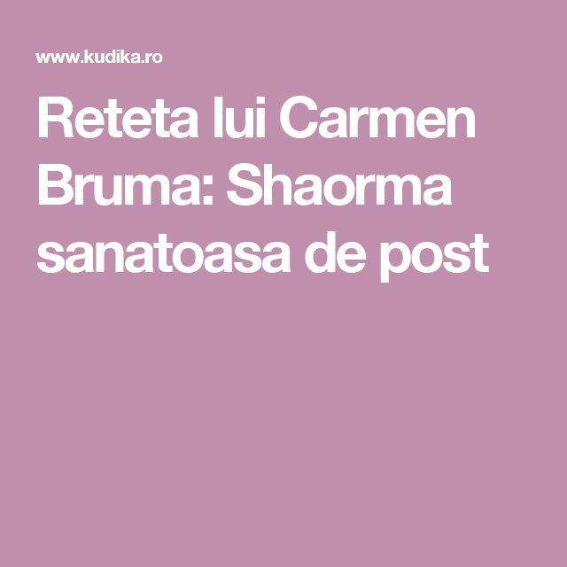 Reteta lui Carmen Bruma: Shaorma sanatoasa de post