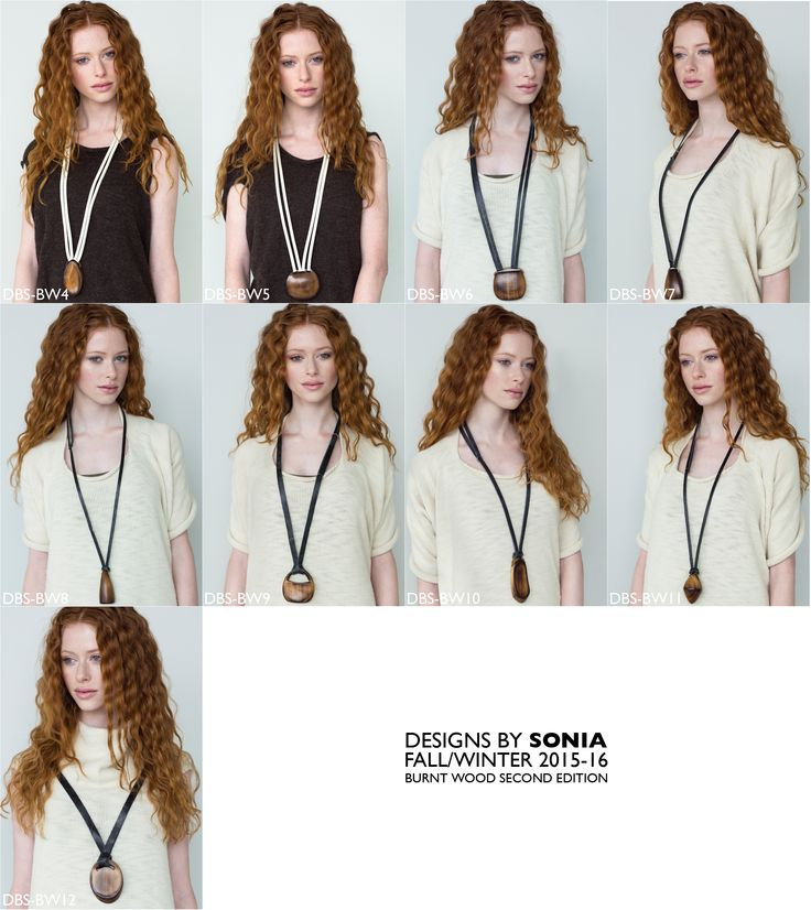 Burnt wood and leather necklaces, Designs By Sonia