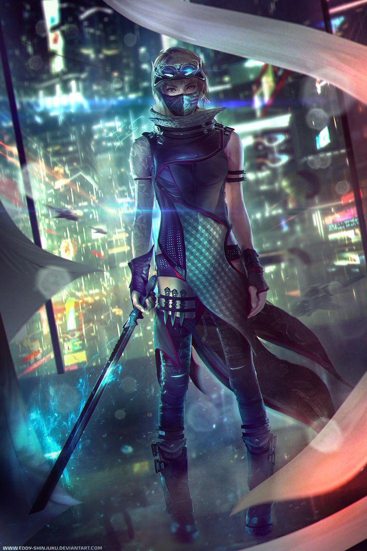 Korsin, Female Ninjapunk by Eddy-Shinjuku                                                                                                                                                                                 Mais