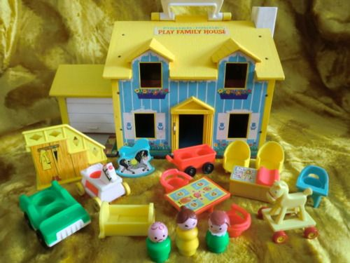Fisher Price House  Gosh we had so much FisherPrice. We would spread everything out and have a whole town!