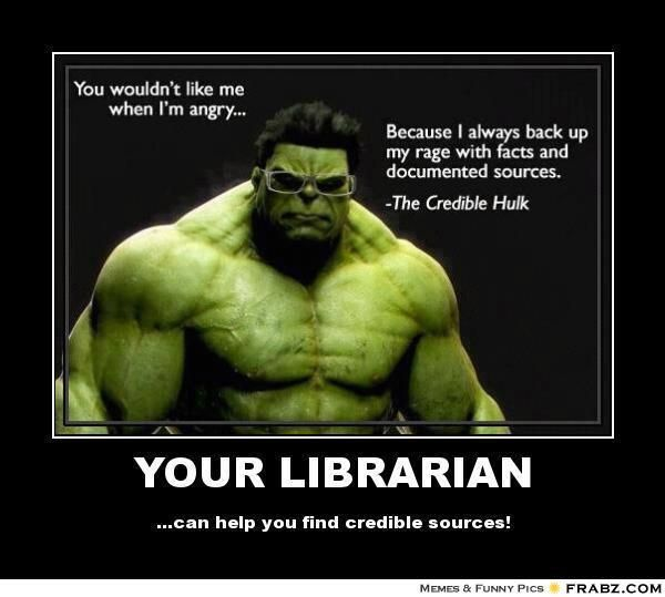 knowledge is power - We can help you find facts and credible sources!