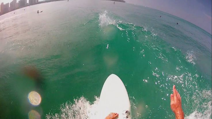Surfing Waikiki - GoPro Head Cam Part 2