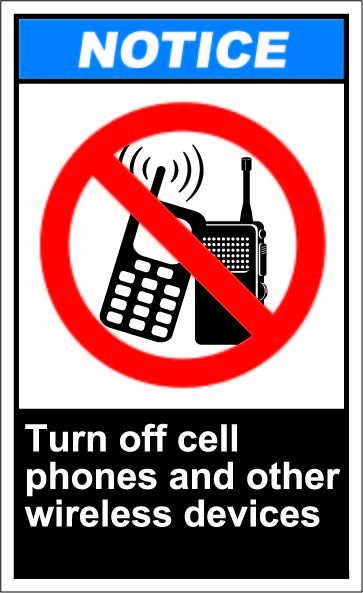 500 best ANSI Safety signs - NOTICE images on Pinterest 1, Safety - Turn Off Cell Phone Sign