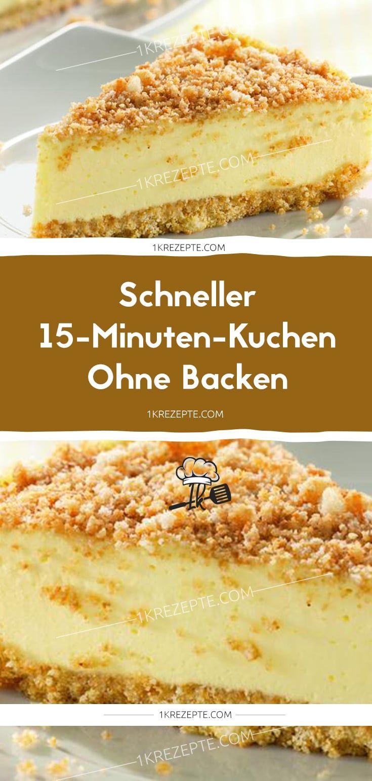 Pastel rápido de 15 minutos sin hornear   – Kuchen und Torten