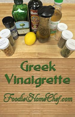 Greek Vinaigrette - Easy to make & so much healthier than store bought salad dressing, having no additives or preservatives. Makes a delicious marinade as well! --------- #Food #Cooking #Recipes #Recipe #Salad #SaladDressing #SaladDressingRecipes #VinaigretteSaladDressing #Vinaigrette #GreekVinaigrette #HomemadeSaladDressing #Vegetarian #VegetarianRecipes #Vegan #VeganRecipes #HealthyRecipes
