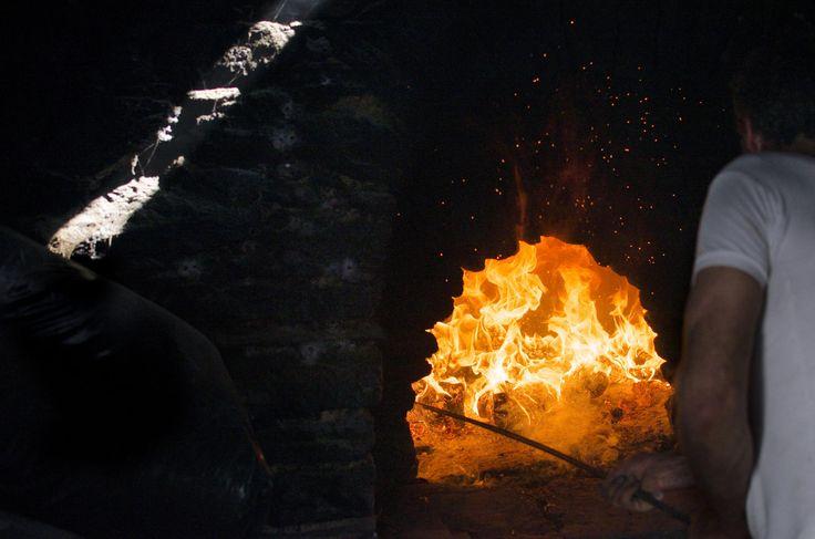 """""""ο Ψήστης Νο2"""".  A grill man, during the Easter, at Amorgos island, Greece"""