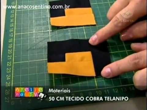 Patchwork Ana Cosentino: Bolsa Grega (Ateliê na TV)