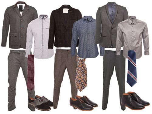 Men's business professional attire - build your wardrobe with separates for endless mix and match possibilities.