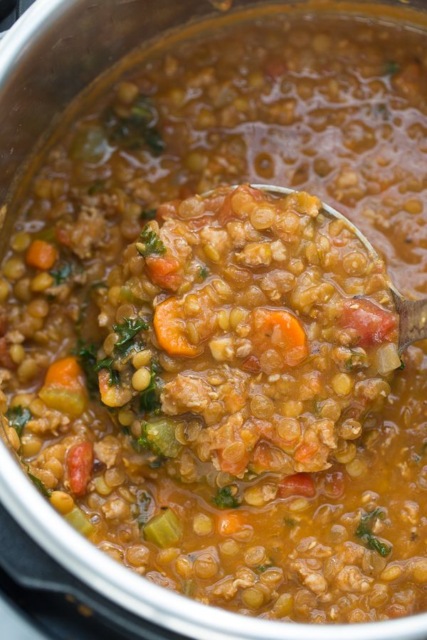 Instant Pot Sausage Lentil Stew