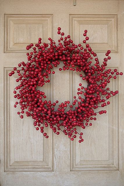 simple red berry wreath.