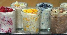 Vyskúšajte tieto zdravé recepty na ovsené kaše, ktoré vás naštartujú na celý deň. Zdravé raňajky v zavaráninových fľašiach v 13 rôznych príchutiach. Stačí zamiešať suroviny, odložiť do chladničky a raňajky sú hotové!