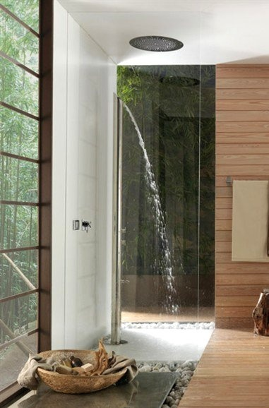 Love The Indoor/outdoor Feel Of This Shower! Great Space!