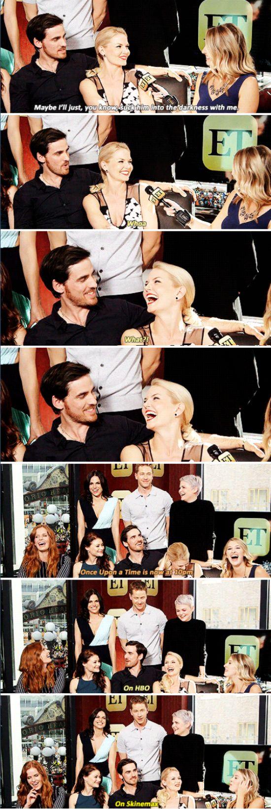 Jennifer, Colin, Lana, Josh, Ginnifer, Rebecca and Emilie - ET interview (pinned 11/10)