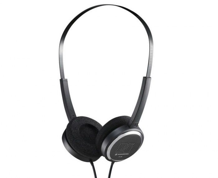 The sleek Sennheiser PX 90 mini-headphones give you strong bass while still being light enough to wear comfortably for hours on end.