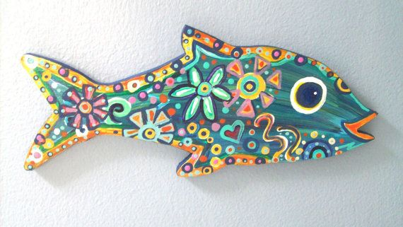 Little Wooden Fish by Paintingsbygretzky on Etsy, $12.00