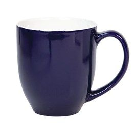 Attractive tapered curvy mug with comfort-fit handle, ideal for the BIG coffee/tea drinkers, perfect for soups and hot chocolate too. 450ml capacity. Boxed.