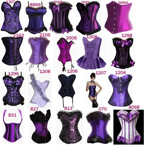 Sexy Purple Brocade Goth Lace Up Basque Corset Bustier Top Costumes G String | eBay