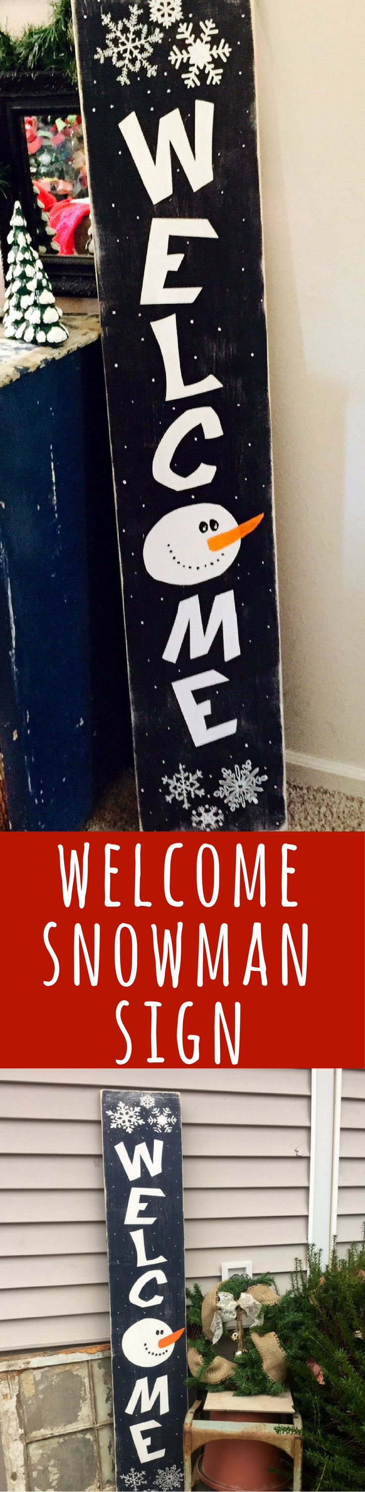 Porch signs welcome my porch barn wood quot what happens on the porch - Welcome Snowman Primitive Snowman Wooden Sign Front Porch Decor Christmas Decor Tall