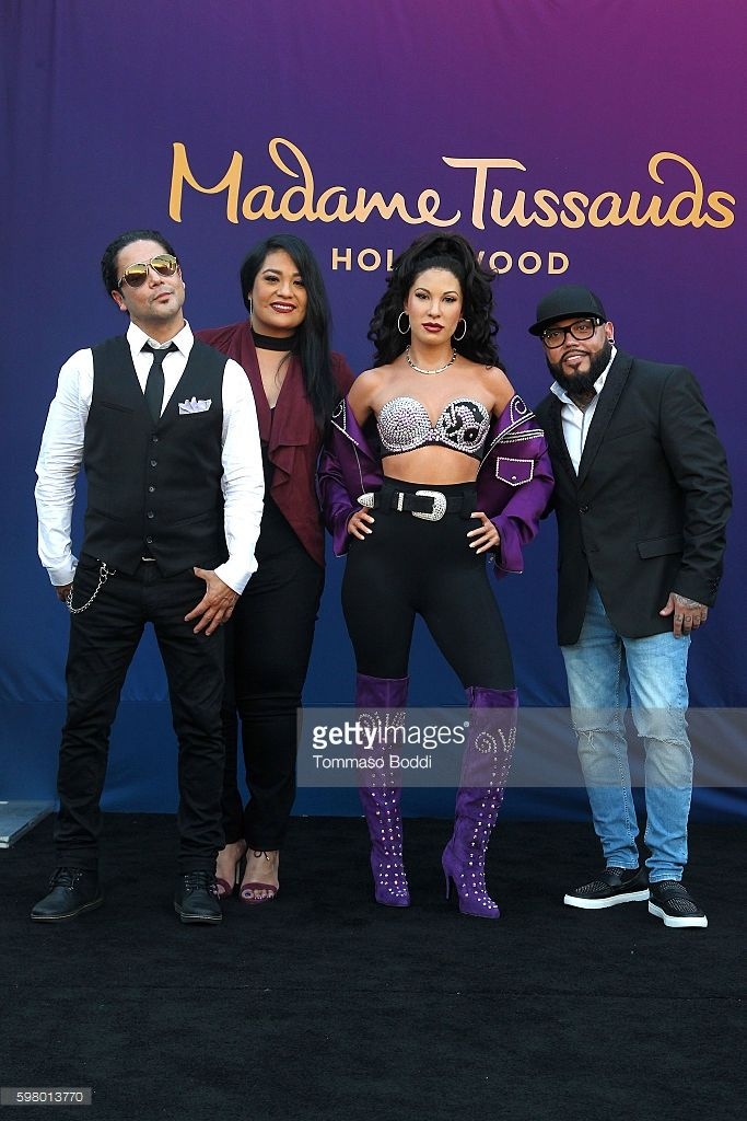 Suzette Quintanilla, A.B. Quintanilla and Chris Perez attend the Madame Tussauds Hollywood Unveils A Wax Figure Of Selena Quintanilla at Madame Tussauds on August 30, 2016 in Hollywood, California.