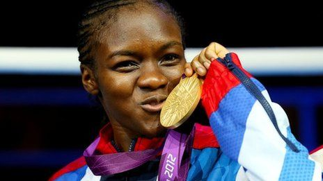 Nicola Adams, MBE is a British boxer and the first woman to win an Olympic boxing title. She is the Gold Medal winner at the 2012 Summer Olympics held in London.