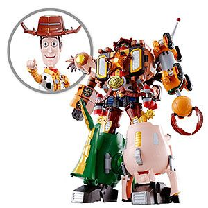 Nt sure why, but this intrigues me. Toy Story Bandai Chogokin Combination Woody Robo Sheriff Star Figure | ThinkGeek