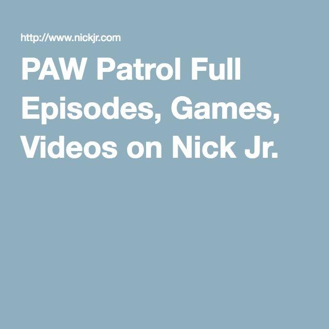 PAW Patrol Full Episodes, Games, Videos on Nick Jr.
