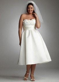 short strapless wedding dress plus size stalkingsarah