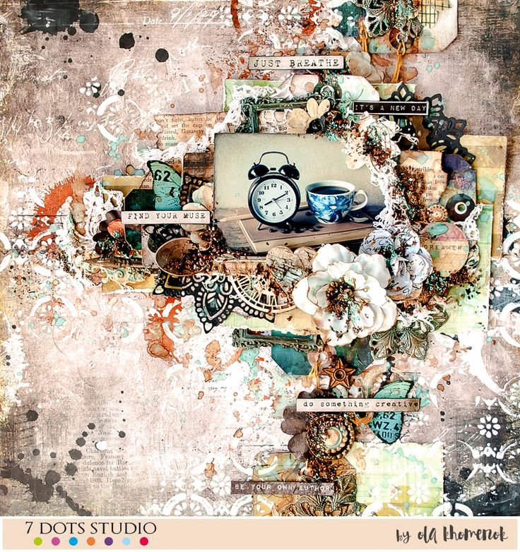 Layout by Ola Khomenok created for 7 Dots Studio with Lost & Found and Paint Chips collections