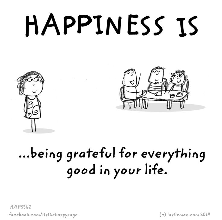 Happiness is..... being grateful for everything good in your life.
